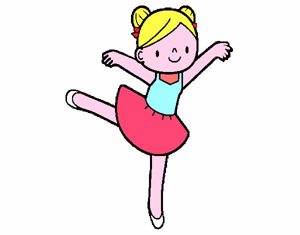 desenho de bailarina de balé pintado e colorido por usuário não