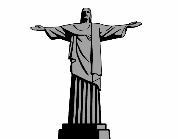 Populares Desenho de O Cristo Redentor pintado e colorido por Usuário não  FJ83
