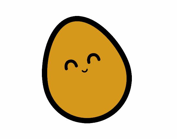desenho de ovo de galinha pintado e colorido por meme o dia 13 de