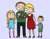 Desenho Família unida pintado por lylolly