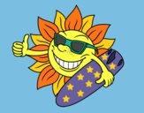 Desenho Sol Surfer pintado por ImShampoo