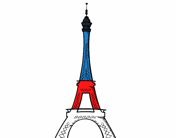 Torre Ifel En Dibujo: Desenho De Torre Da França Pintado E Colorido Por