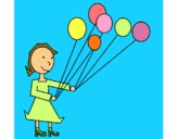 Rapariga com balões