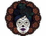 Desenho Caveira mexicana feminina pintado por LillyCat