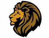 Desenho Leão tribal pintado por luzinda