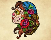 Desenho Tatuagem de Catrina pintado por lilica9