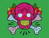 Desenho Tatuagem de caveira pintado por lilica9