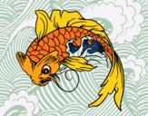 Desenho Peixe Koi pintado por LLL321