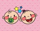 Desenho Gêmeos 2 pintado por ImShampoo