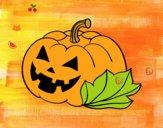Abóbora de halloween decordada