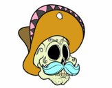 Caveira mexicana com bigode