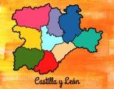 Desenho Castela e Leão pintado por AmandaBC