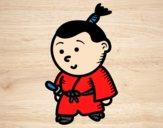 Desenho Samurai criança pintado por AmandaBC