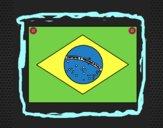 Desenho Brasil pintado por Isadoran