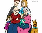 Desenho Família pintado por Mandy