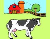Desenho Vaca a pastar pintado por ameireles