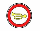 Desenho Avisos acústicos proibida pintado por ameireles