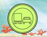 Ultrapassar proibido para caminhões