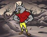 Homem lobo robusto