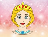 Desenho Rosto de princesa pintado por vasquez9