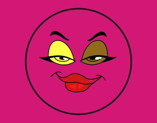 desenho de smiley mala pintado e colorido por usuário não registrado