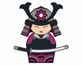 Desenho Samurai chinês pintado por Nega30