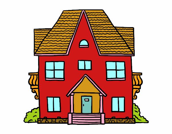 Desenho De Casa Com Varandas Pintado E Colorido Por Lywya O Dia 17 De Setembro Do 2016