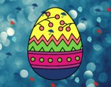 Desenho Um ovo de páscoa pintado por BARBA1