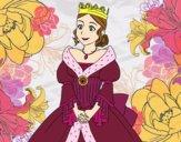 Desenho Princesa medieval pintado por Missim