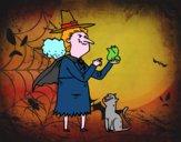 Bruxa malvada com a rã