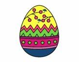Desenho Um ovo de páscoa pintado por PriRafaela