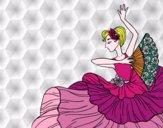 Desenho Mulher flamenco pintado por Gisla