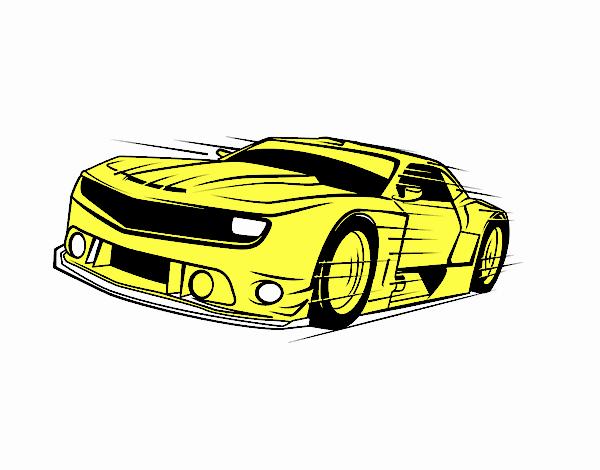 desenho de camaro amarelo 220 2016 pintado e colorido por usuário