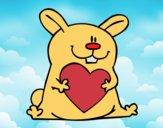Coelho com coração
