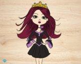 Desenho Princesa moderna pintado por raphinha
