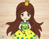 Desenho Princesa primavera pintado por raphinha
