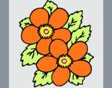 Desenho Flores 1 pintado por carmasiana