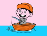 Menino a pescar