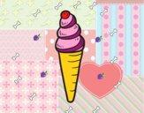 Uma casquinha de sorvete
