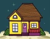 Desenho Casa de campo pintado por AndressaBR