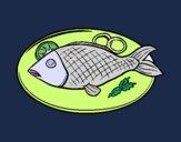 Desenho Placa de peixes pintado por AndressaBR
