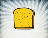 Uma fatia de pão