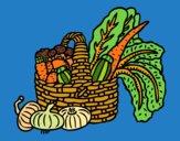 Desenho Cesta de legumes pintado por JPjoao