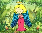 Desenho Um anjo a orar pintado por 1500