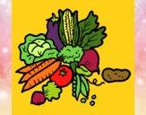 Desenho verduras pintado por JPjoao