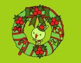 Guirlanda de Natal e coelhito