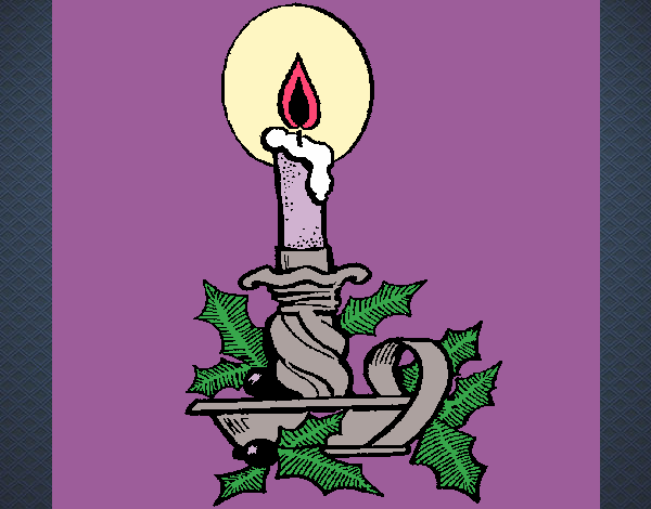 Desenho De Vela De Natal Pintado E Colorido Por Ceciliaz O