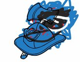 Bombeiro capacete e machado