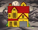Desenho Casa de família americana pintado por luzinda
