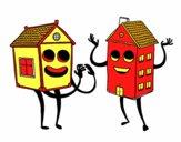 Casas vizinhas